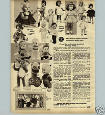 1963 PAPER AD Mattel Chatty Cathy Doll Blonde Colored Negro Black Baby Barbie
