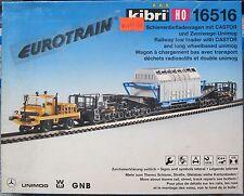 Kibri HO 16516    Schienentransport mit Castor und Zweiwege Unimog    NEU  & OVP