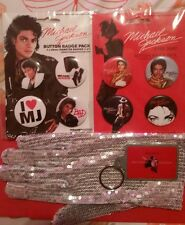 Michael Jackson Button Badge Packs Glove and Keychain Lot