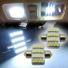 "2x White 1.25"" 31mm 16-SMD-5050 DE3175 LED Lights For Interior Dome Map 1016 H7B"