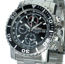 NEW SEIKO 100mtr SPORTS CHRONO WITH STAINLESS STEEL BRACELET SNA225P1