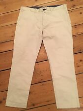 SIZE EUR 48 ZARA MAN BEIGE CHINO TROUSERS SUMMER/GOLF/SPORT/FOOTBALL RRP £80