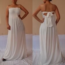 NWT Sexy Women IvoryWhite Strapless Summer Maxi Dress Casual Cocktail Party 3XL