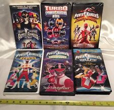Lot of 6 Mighty Morphin POWER RANGERS VHS Movies SPACE/TURBO/RESCUE/TIME FORCE