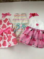 """American Made Doll Clothes LOT 5pc for 18"""" American girl dolls Valentine Dresses"""