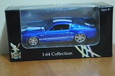 Blue 1967 FORD Mustang Shelby GT500 Yat Ming Road Signature 1:64 Car Collection