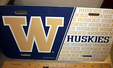 University of Washington Huskies flexible plastic License Plate, made in the USA