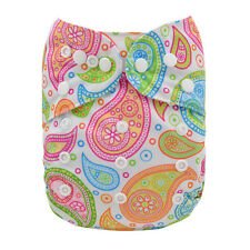 ALVA Reusable Adjustable One Size Baby Cloth Diaper Printed Nappy Girl+1Insert