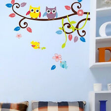 Trendy Home Decor Owl Tree Cartoon Wall Stickers Removable Vinyl Decal Mural Art