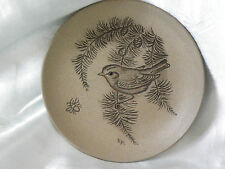 Poole Pottery Stoneware Goldcrest in a Fir Tree Plate (Bird Series) (1)