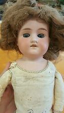 Early 1900's German Doll w/Movable Eyes & Teeth-Leather Body-LOOK