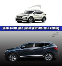 SAFE Side Under Skirts Chrome Molding 4Pcs For Hyundai Santa Fe DM 2013 2016
