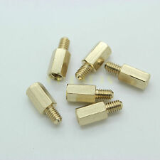 20PCS M4*10+6 Female+Male Hexagon Brass Spacer Nut Standoff Screw FR PCB Mount