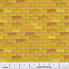 Wizard of Oz YELLOW BRICK ROAD Bricks Wilmington Cotton OOP Fabric By FQ 1/4 YD