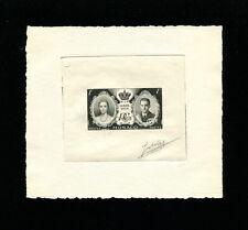 Monaco 1956 Grace Kelly Scott 366 Signed Sunken Die Artist Proof
