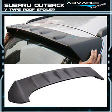 Fit For 10-14 Subaru Outback V Type Unpainted Roof Spoiler Wing (ABS)