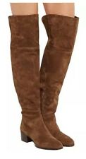 Chloe Boot Grace Suede Over-The-Knee Size 37 $1625 Chocolate Brown Authentic