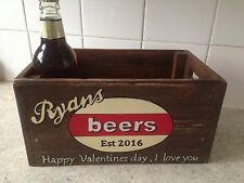Beer Crate Retro Style Personalised Gift For Men Christmas Best Man Birthday