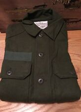 Vtg. Vietnam War Era U.S. Army Military Cold Weather Wool Olive Green 108 Shirt.