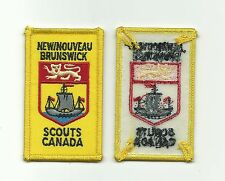 SCOUT CANADA NEW / NOUVEAU BRUNSWICK PROVENCIAL PATCH OLD ISSUE CANADIAN BADGE !