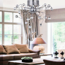 Modern Elegant Crystal Ceiling Fixture Lighting Chandelier 9 Light Lamp Pendant