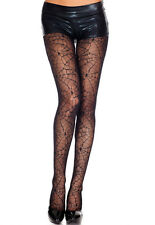 Black Spider Web Sheer Nylon Tights Sexy Halloween Lingerie P701