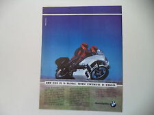 advertising Pubblicità 1991 MOTO BMW K100 K 100 RS 16V