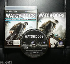 Watch Dogs (Sony PlayStation 3, 2014) PS3 - Very Good condition - FREE POST