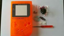 CARCASA COMPLETA+PANTALLA COMPATIBLE GAME BOY CLASSIC CLEAR ORANGE NEW/NUEVO