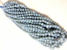 "2 Strand Peruvian Blue Opal Round Ball Genstone Smooth Loose Beads 5-8MM 16""Long"