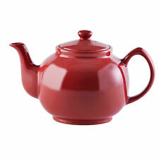 Large red teapot retro high gloss red tea pot 10 cup capacity ceramic teapot