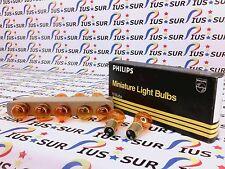 NSOP 10 PHILIPS AUTO HALOGEN LAMP BULBS 1157NA 1157 NA AMBER 12.8V 24/2.2CP TURN