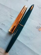 Parker 61 fountain pen with rolled gold cap & 14k solid gold nib excellent condi