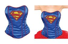 DC Comics Girl's Supergirl Corset One Piece Blue Adult Costume Sexy Lingerie XL