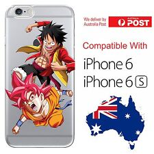 iPhone 6 6S Soft Silicone Cover Case Dragon Ball One Piece Goku Luffy Super God
