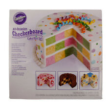 Wilton Checkerboard Cake Tins Pans Set, Fondant, Icing, Decorating, Gum Paste