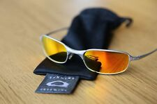 OAKLEY SQUARE WIRE 2.0 Silver/Fire Iridium  sunglasses.