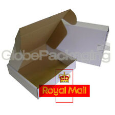 25 x MAX SIZE ROYAL MAIL SMALL PARCEL White Cardboard Postal Boxes 419x338x72mm