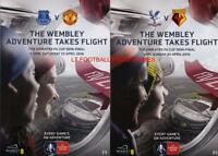 2016 FA CUP SEMI-FINAL - BOTH PROGRAMMES (PALACE v WATFORD & EVERTON v MAN UTD
