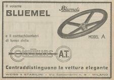 Z1552 Volante BLUEMEL - Pubblicità d'epoca - 1925 Old advertising