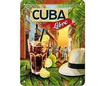 BLECHSCHILD 26143 - COCKTAIL-TIME - CUBA LIBRE - 15x20 cm - NEU