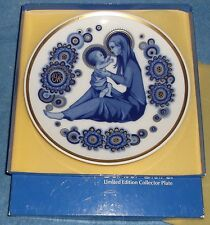 1976 Santa Clara Collector Plate - Navidad Christmas Baby Jesus Mary - in Box