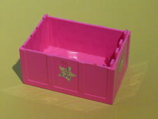 Lego 1 coffre rose fonce set 5801 5808 / 1 dark pink container with sticker