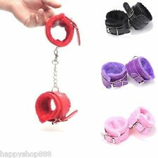 Adult Restraint BDSM Slave Ankle Chain Handcuffs Plush PU Leather Sex Toy Bid