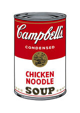Soup Can Series #1 Chicken Noodle by Andy Warhol A2 High Quality Canvas Print