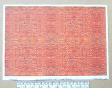 "G gauge (1:24 scale) "" Red-orange brick(English bond) ""  paper - A4 sheet"