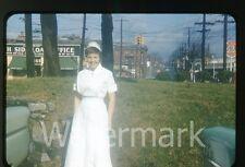 1958 Photo slide Atlanta GA Nurse North side Jewelry and Loan Pawn shop #1