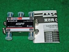 MASPRO 4DC10F CATV 4-WAY DIRECTIONAL COUPLER or 4-way SPLITTER 4SPF 10-2150Mhz