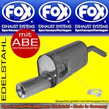 FOX SPORTAUSPUFF Ford Fiesta ST150 ab 2005 1x90 2.0l