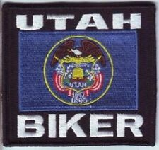 UTAH STATE EMBROIDERED  BIKER FLAG PATCH
